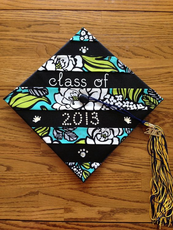 DIY College Graduation Cap Made from a Vera Bradley Napkin.