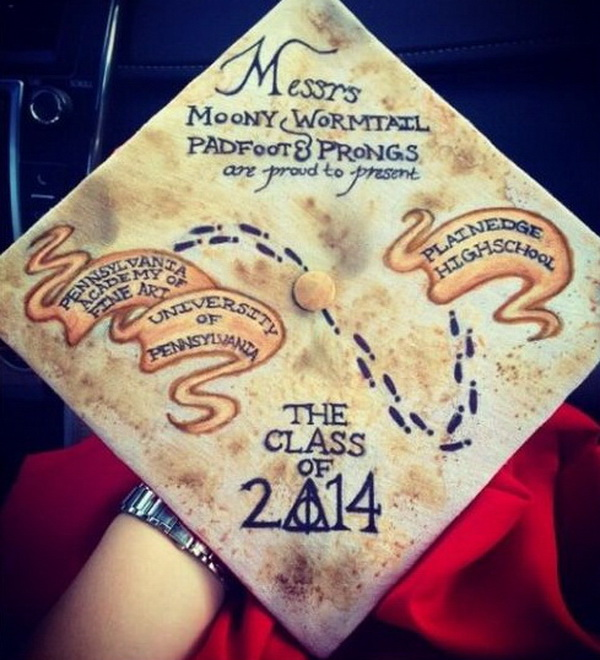 Vintage Graduation Cap Decoration Idea. 30+ Awesome Graduation Cap Decoration Ideas.