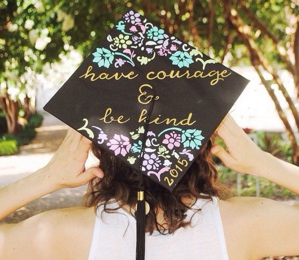 Pretty Graduation Cap Idea---40+ Awesome Graduation Cap Ideas.