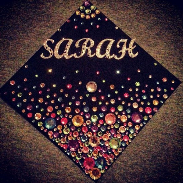 Rhinestone Graduation Cap.