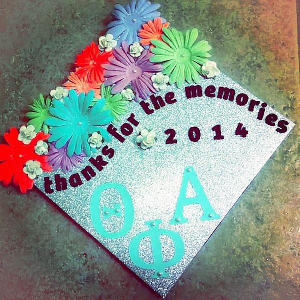 Thanks For The Memories DIY Floral Graduation Cap.