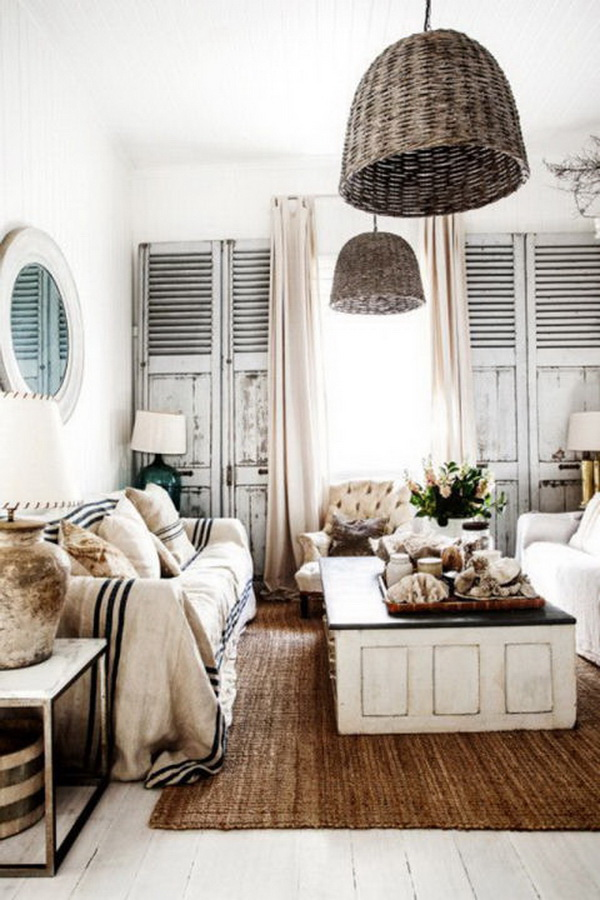 Wicker Pendants for Living Room.