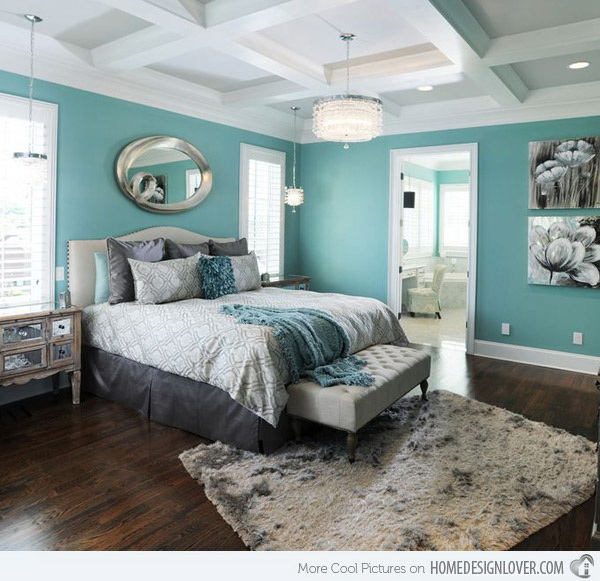 Toned blue and gray master bedroom. Love this lovely color combination of toned blue and gray. This color scheme creates a modern flair with soothing yet cool atmosphere.