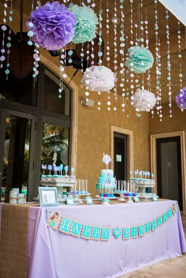 Ocean-loving Theme for Little Girls' Birthday Party.