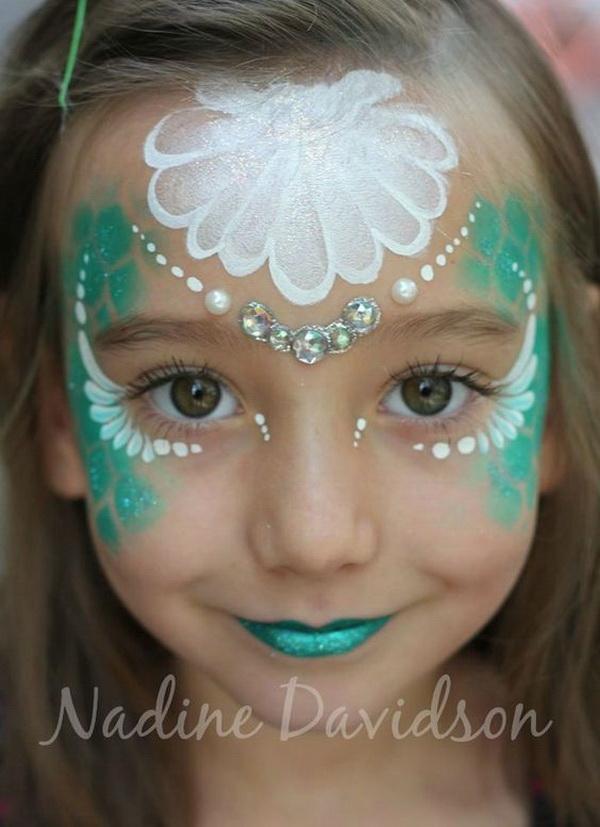 Mermaid Face Paint .