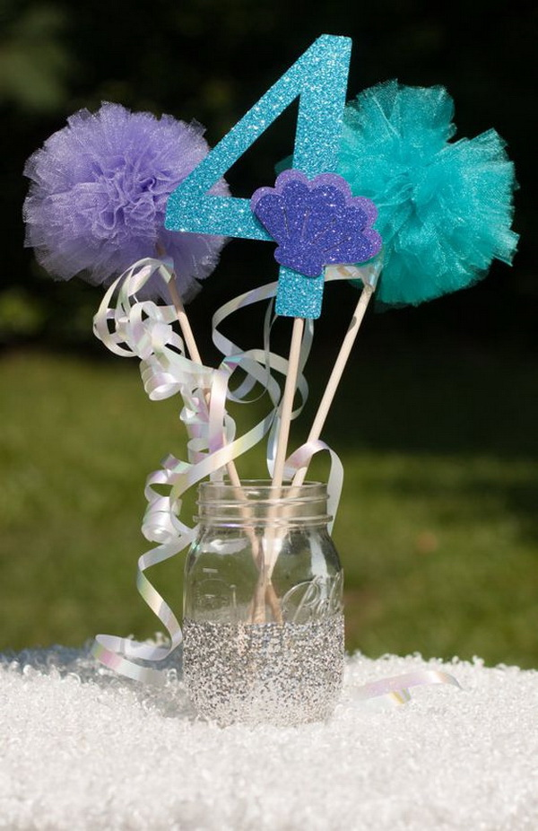Under the Sea Little Mermaid Table Centerpiece.
