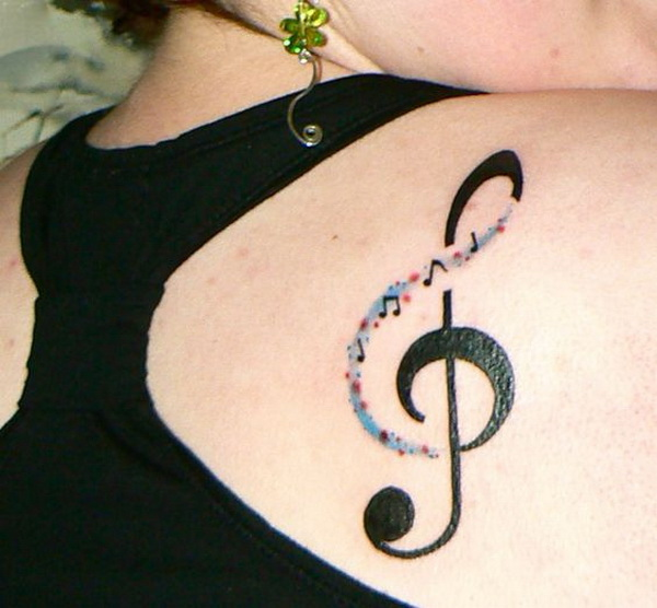 Tribal Flames And Music Note Tattoo Design Photo - 3 - Photo ...