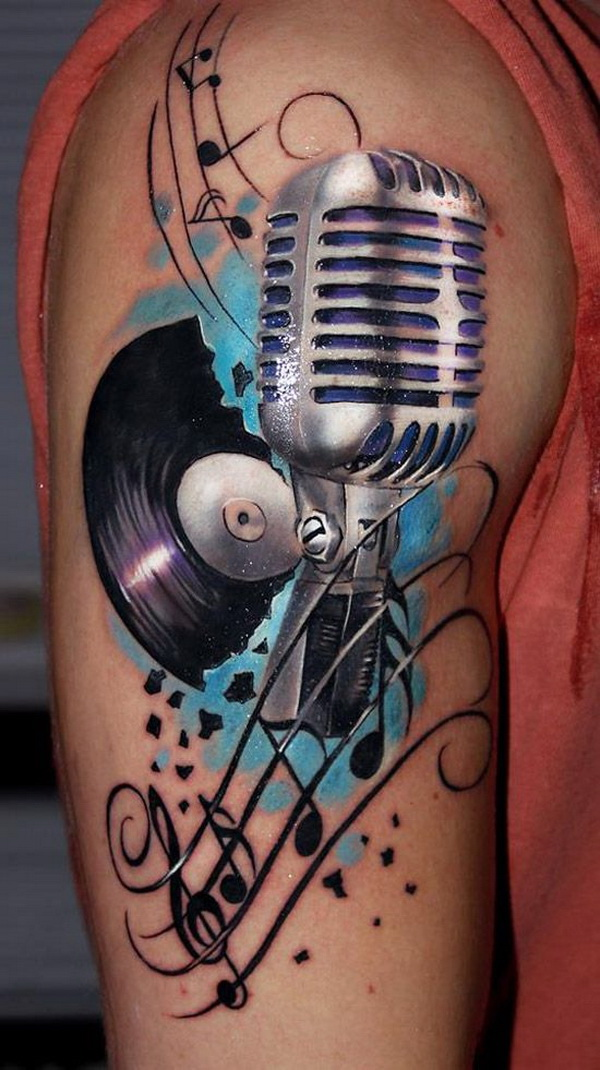 Retro Music Tattoo.