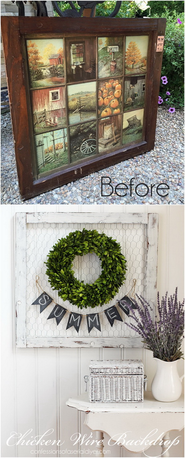 Wreath Backdrop With Old Window.