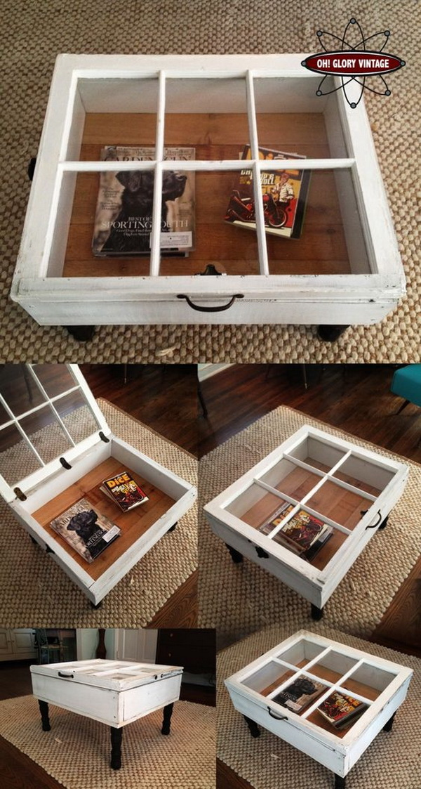 Reclaimed Window Coffee Tables.