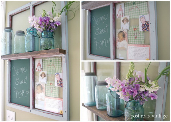 Chalkboard Picture Frame Shelf.