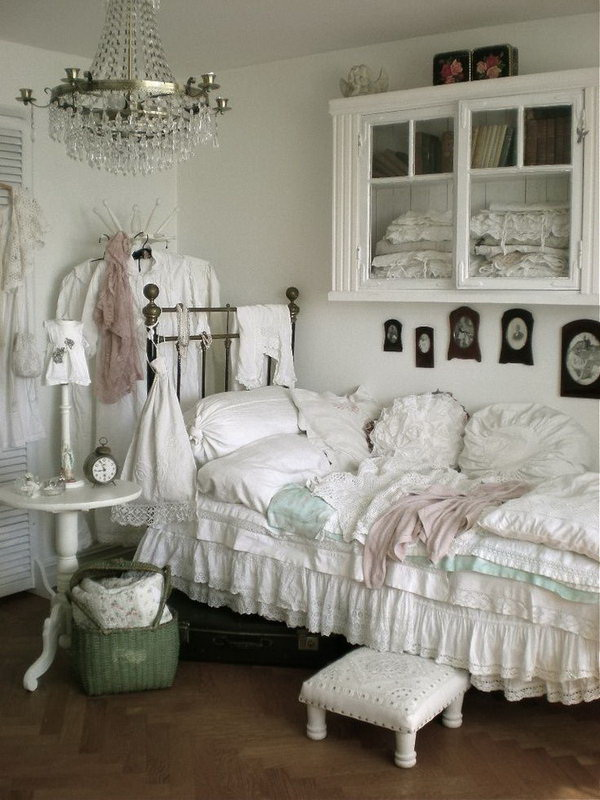 Small White Chic Bedroom.