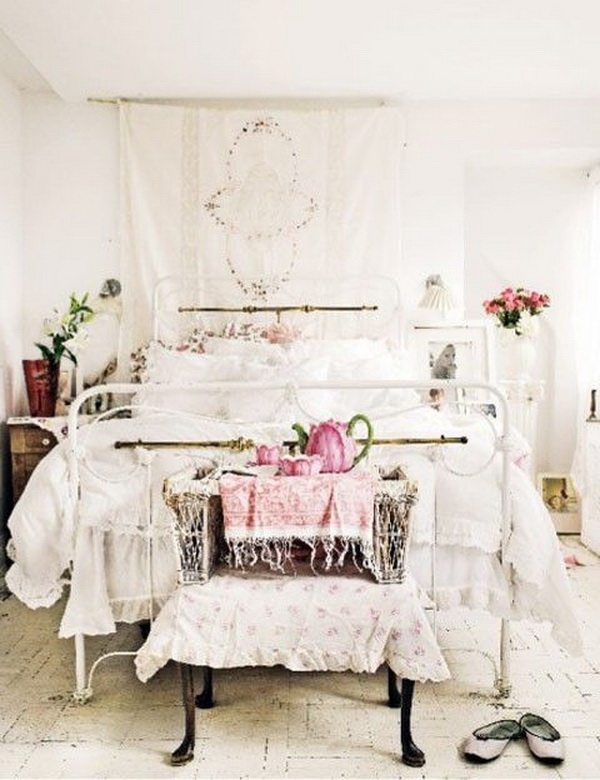 30 cool shabby chic bedroom decorating ideas for - Camere da letto stile shabby chic ...