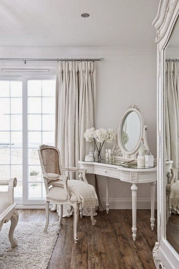 Magical Shabby Chic Dresser in the Bedroom.