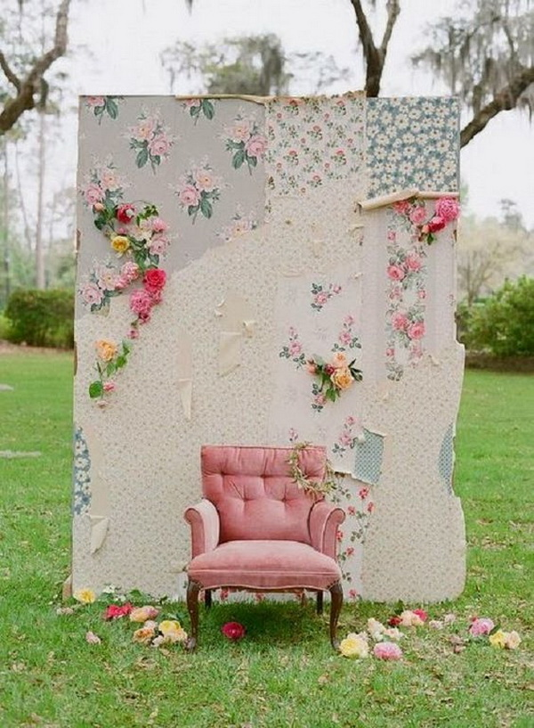 Shabby Chic Weddings Photo Booth.