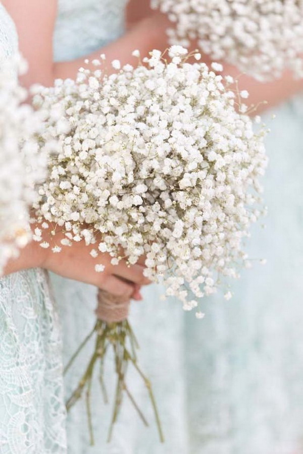 Vintage Baby's Breath Bouquet.