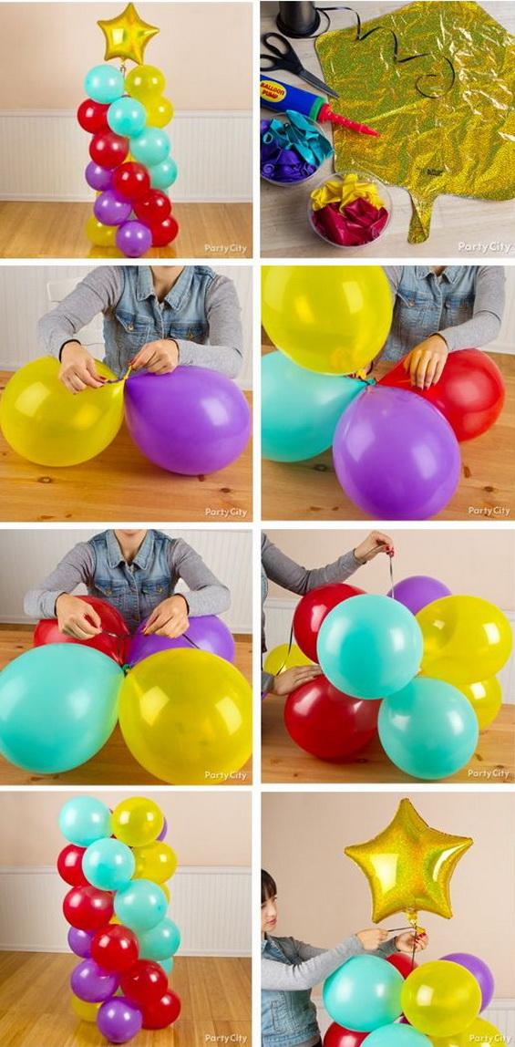 Amazing Spiral Balloon Columns.