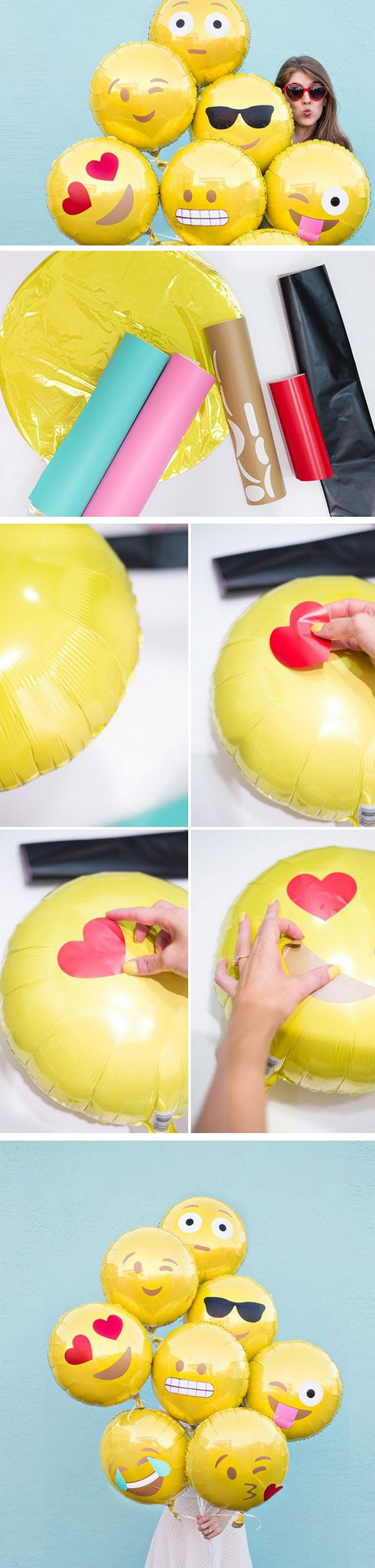 DIY Emoji Balloons.