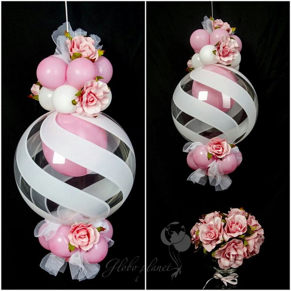 Beautiful Qualatex Swirl Design Deco Balloons.