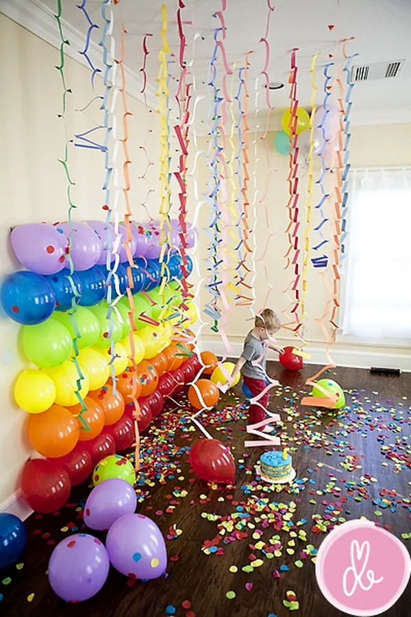 Multi-colored Balloon Backdrop.