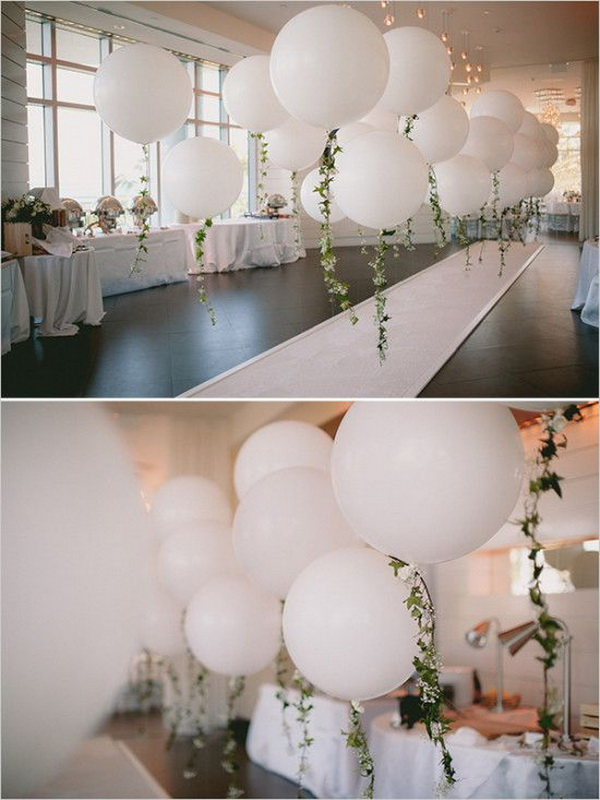DIY Balloon Garland for Engagement Party.