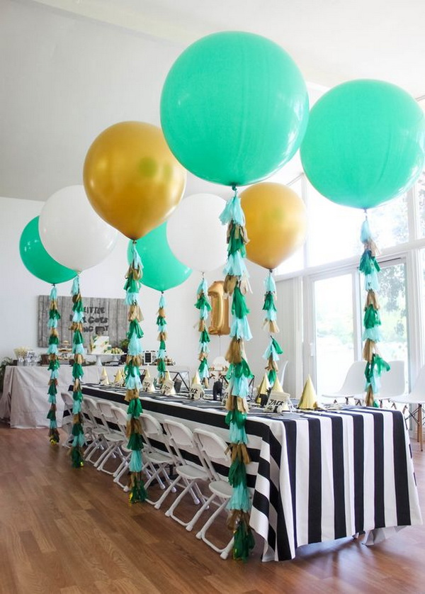 Tassels on the Balloons.