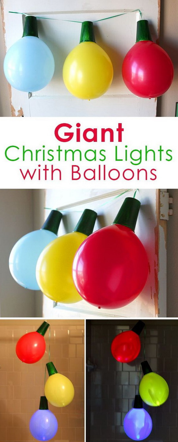 Giant Balloon Christmas Lights and Ornaments.