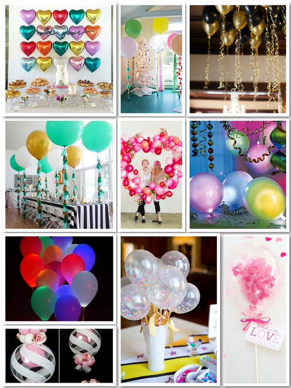 50+ Pretty Balloon Decoration Ideas.