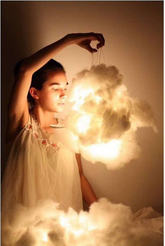 DIY Cloud Lights. These amazing DIY Cloud lights are great for a special summer event.