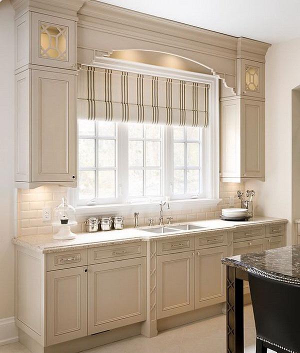 Beautiful Beige Kitchen Cabinet Paint Color Ideas.