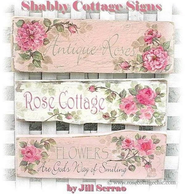 Fresh Flowers Wood Sign with Shabby Chic Charm.