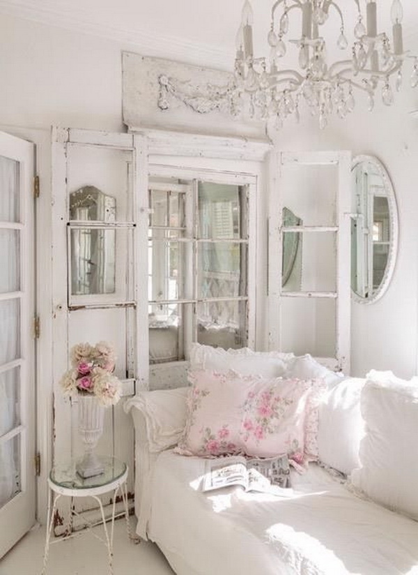French Style Shabby Chic Living Room.