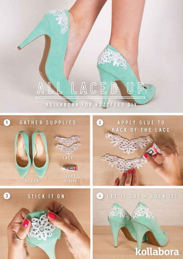 Refashion your heels with lace back pumps!