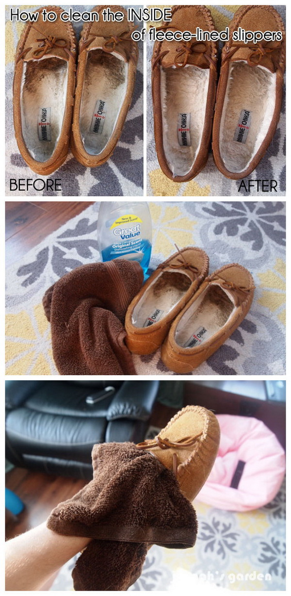 How to Clean the Inside of Fleece-lined Shoes or Slippers.