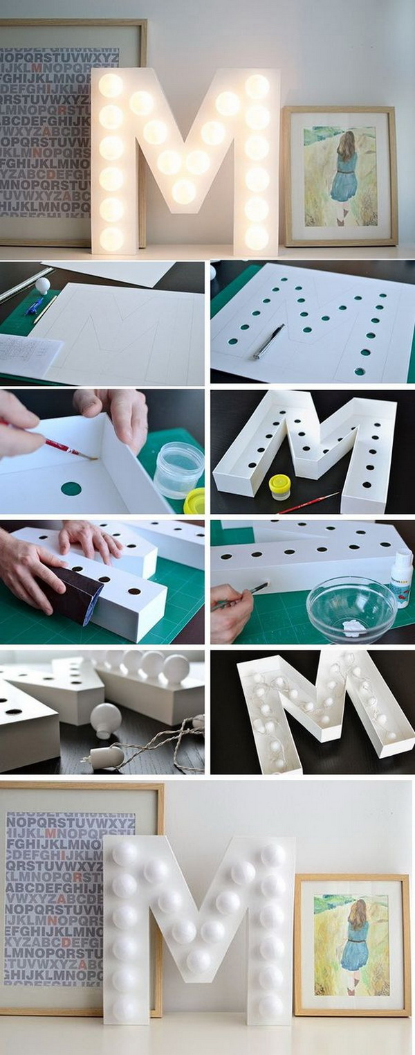 Initial Letter Light. Make a cool initial light for your room to make your space unique and give it some personality.