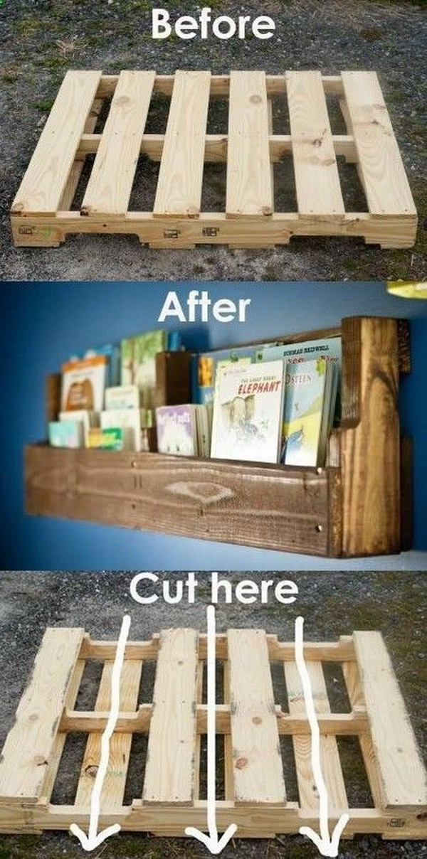 Pallet woods are a versatile DIY project for your home! Give this mini pallet bookshelf a try and add a bit of rustic charm to your home.
