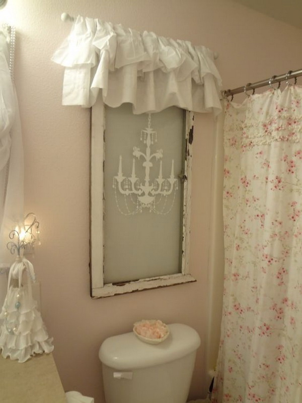 Superieur Shabby Chic Window Treatment For Bathroom Decor