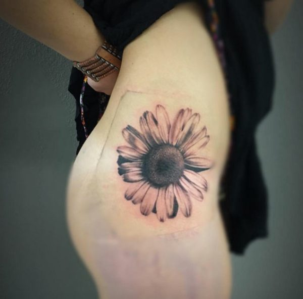 A Hip Piece---Sunflower Tattoos.