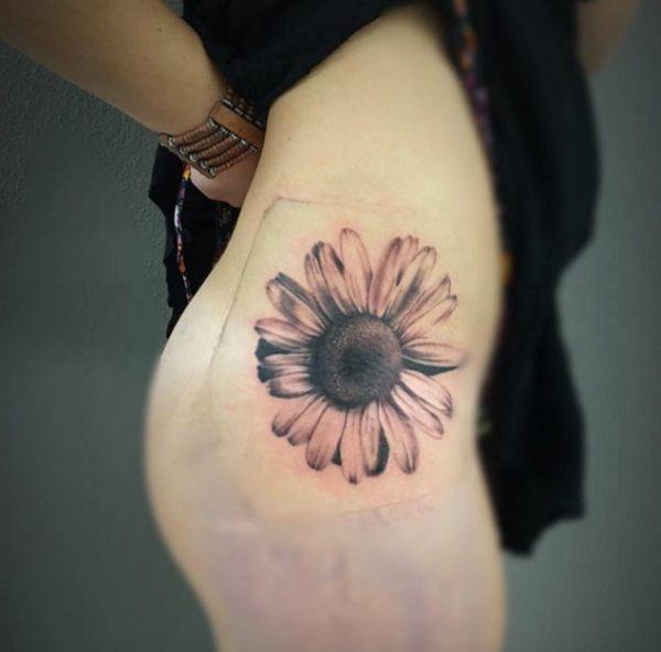 A Hip Piece---Sunflower Tattoos.