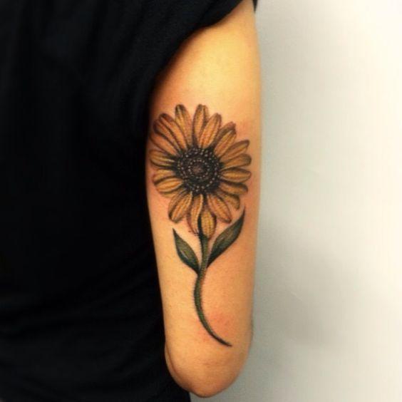 Sunflower Tattoo on Side Arm.