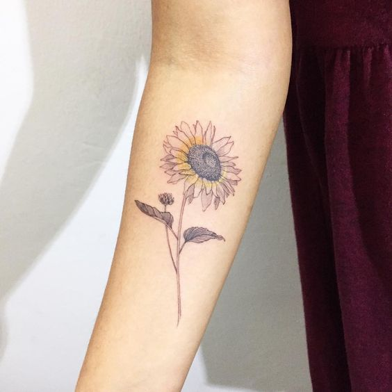 Small Sunflower Tattoo: 50+ Amazing Sunflower Tattoo Ideas