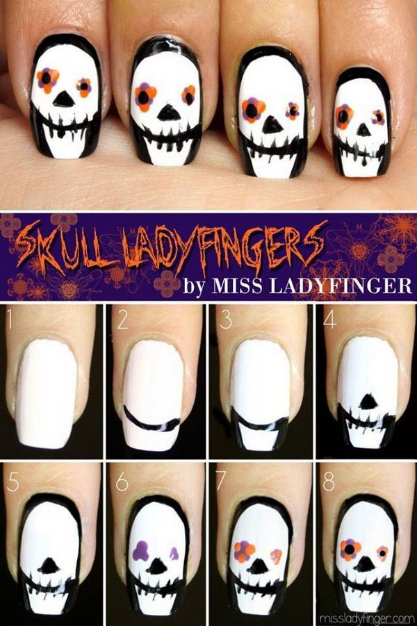 diy halloween nail art designs with stepbystep tutorials