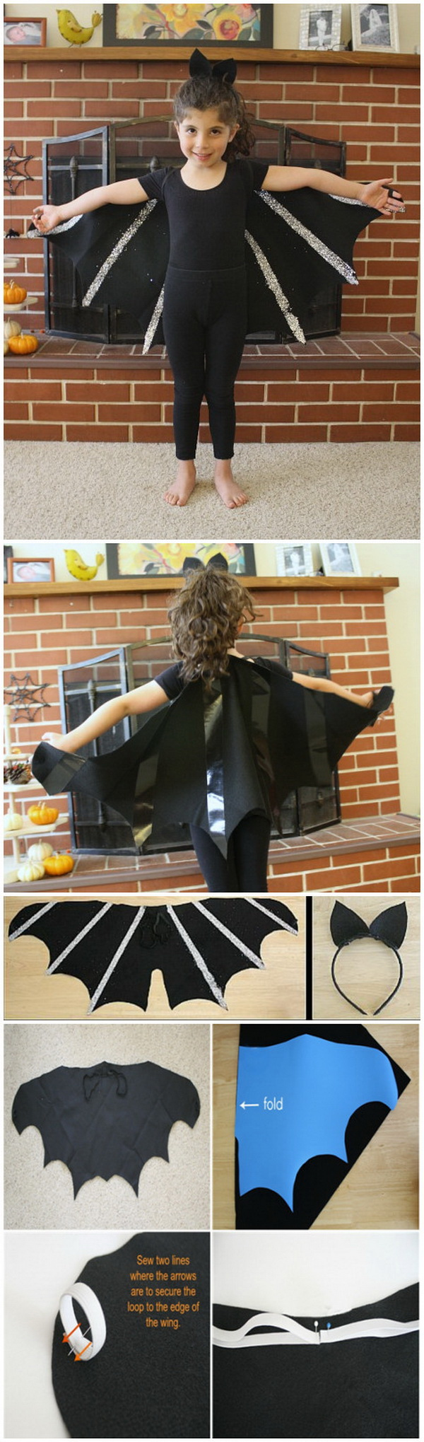 DIY Bat Costume for Kids.