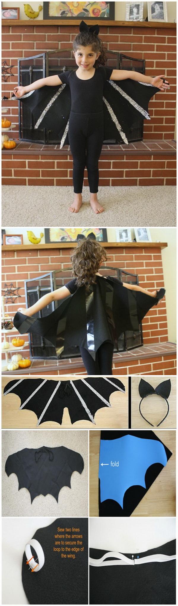 DIY Bat Costume for Kids.