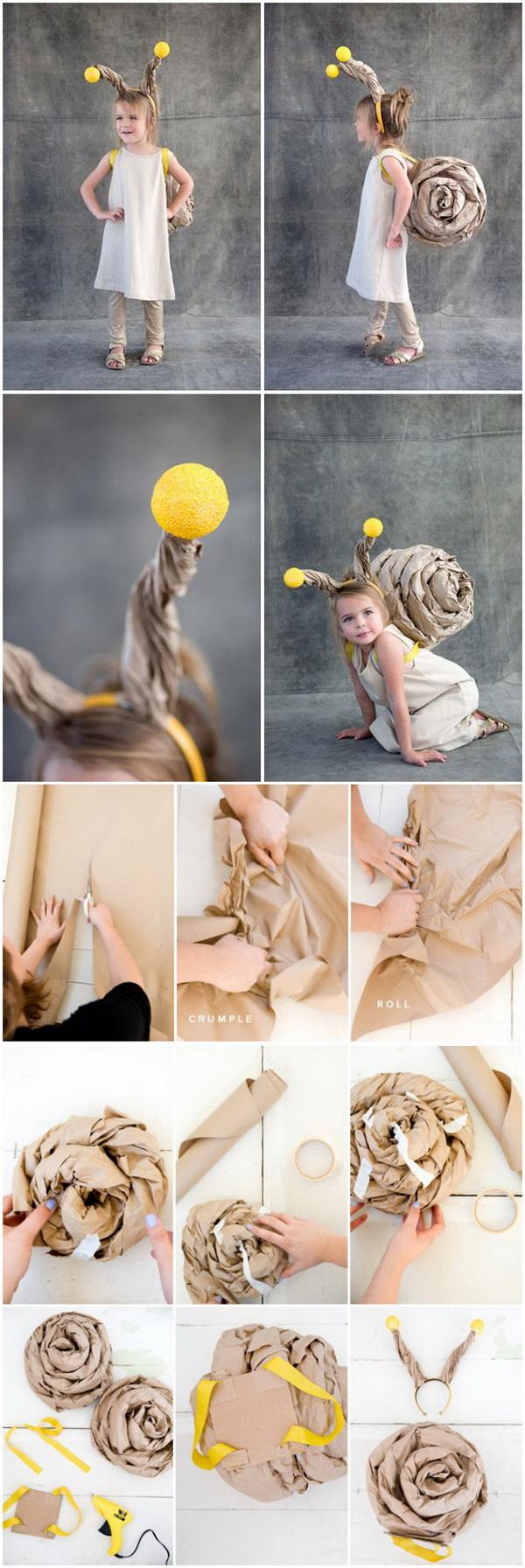 DIY Snail Costume For Kids.