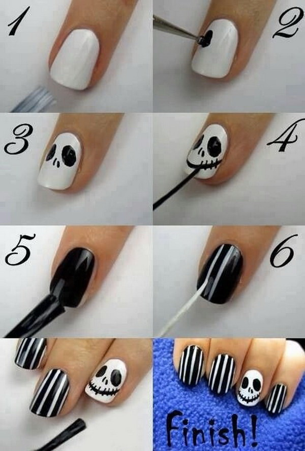 Jack Skellington Nail Art.
