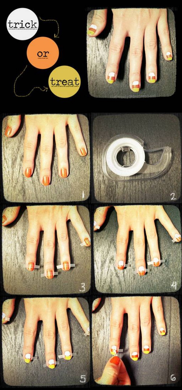 Candy Corn Manicure.