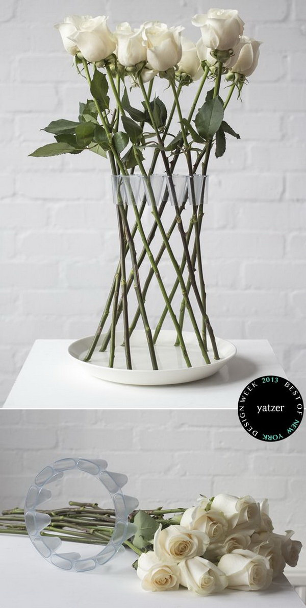 Fame Crown Flower Vase. A creative gadget for flower arrangement! It can keep your flowers beautifully in place. Elegant table centerpiece for any party or weddinf!