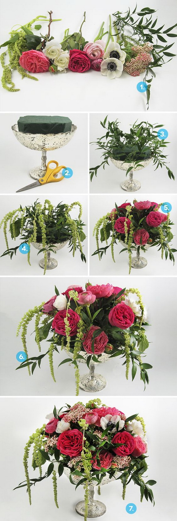 DIY Anemone Wedding Centerpiece. Perfectly delightful anemone centerpiece for you wedding!