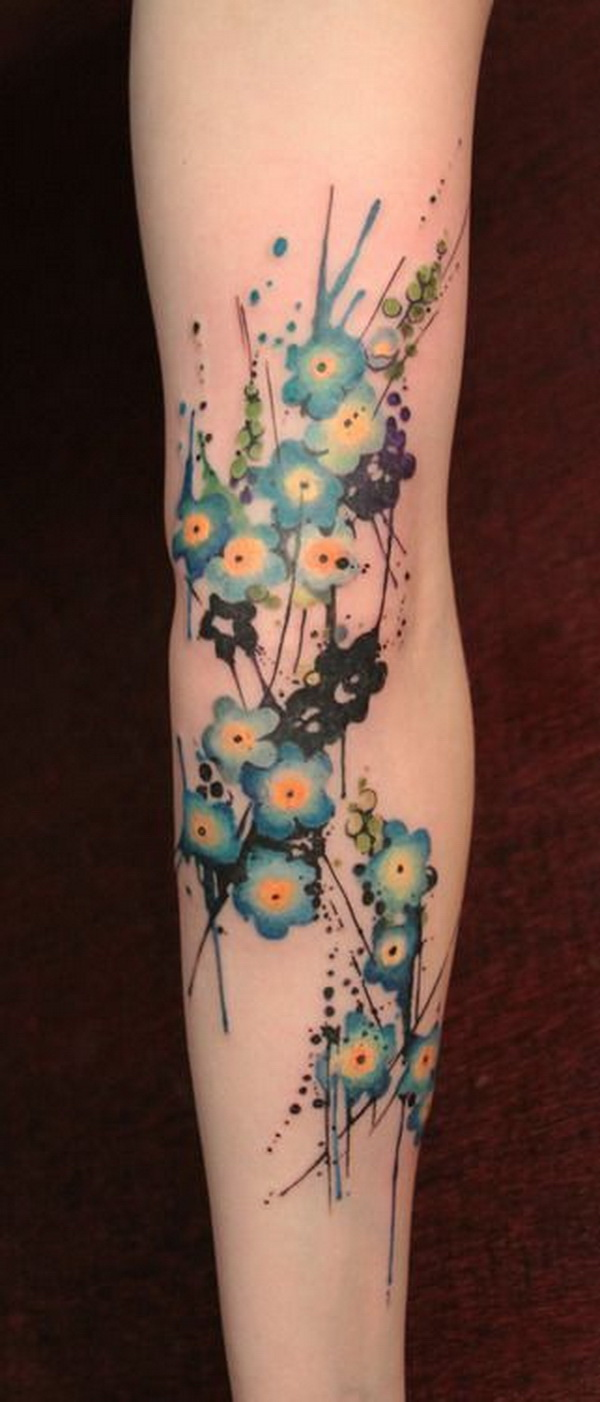 Forget Me Not Tattoo.